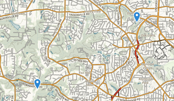 Winston Salem, North Carolina Map