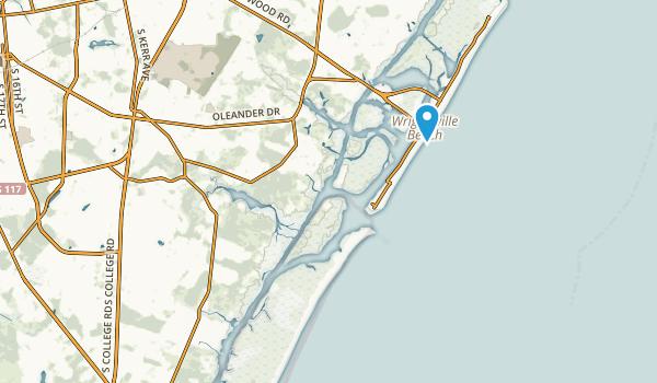 Wrightsville Beach, North Carolina Map