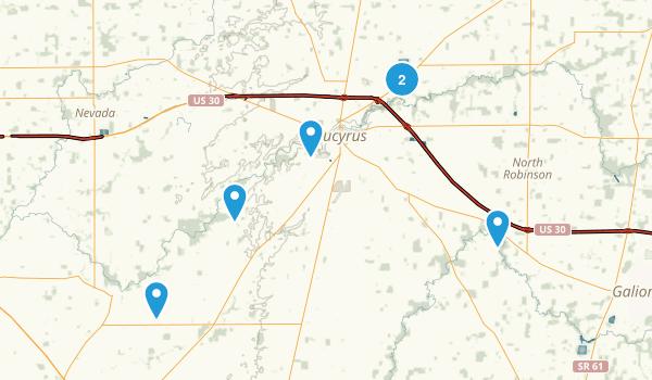 Bucyrus, Ohio Map