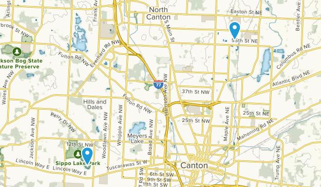 Canton, Ohio Map