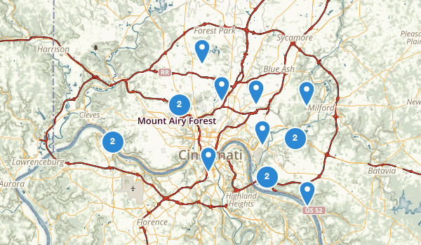 Best Trails near Cincinnati Ohio – Cincinnati Tourist Attractions Map