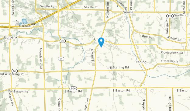 Creston, Ohio Map