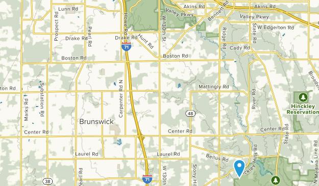 Echo Lake Glen, Ohio Map
