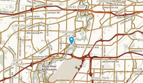 Fairview Park, Ohio Map