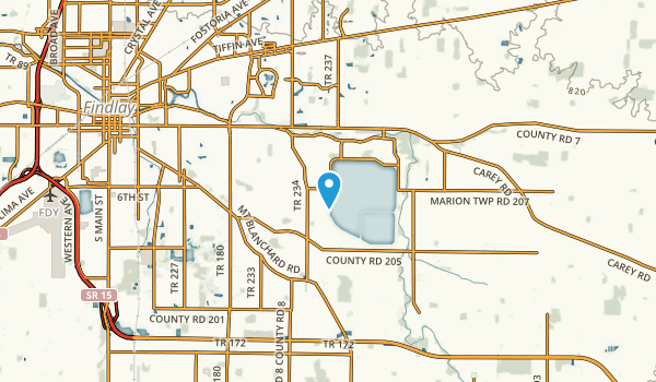 Findlay, Ohio Map