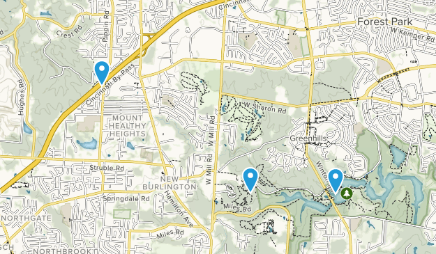 Greenhills, Ohio Map