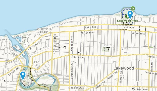 Lakewood, Ohio Map