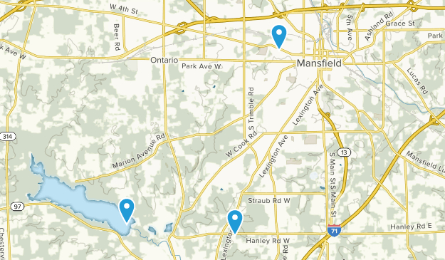 Mansfield, Ohio Map