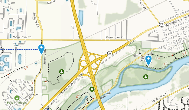 Maumee, Ohio Map