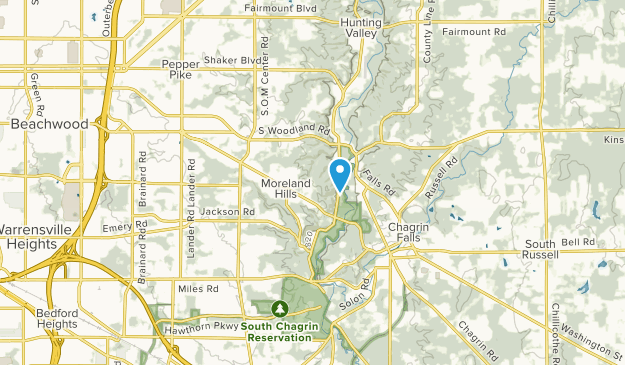 Moreland Hills, Ohio Map
