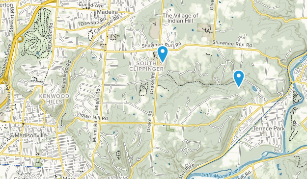 The Village of Indian Hill, Ohio Map
