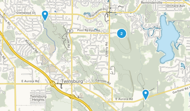 Twinsburg, Ohio Map