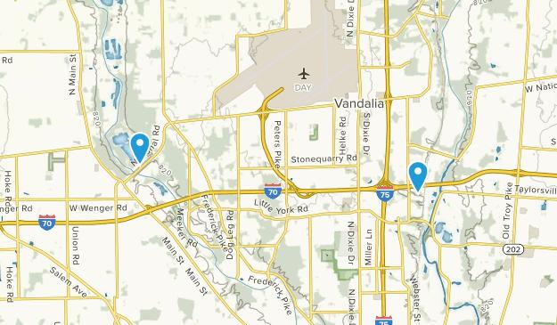 Vandalia, Ohio Map