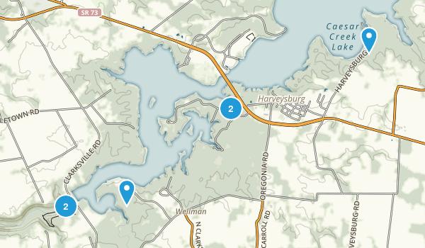 Waynesville, Ohio Map