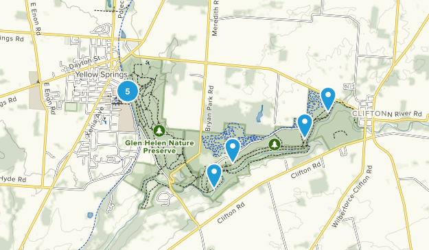 Map Of Trails Near Yellow Springs Ohio Alltrails