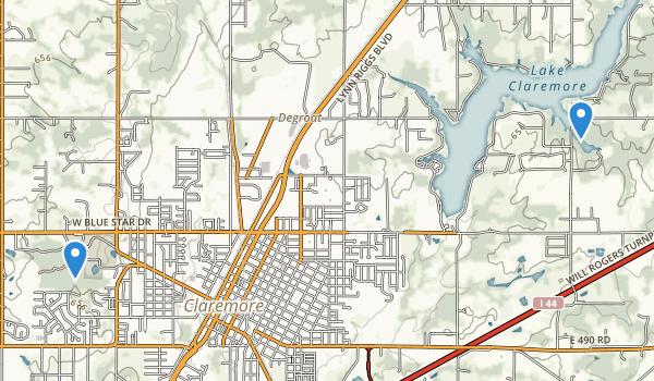 Claremore, Oklahoma Map
