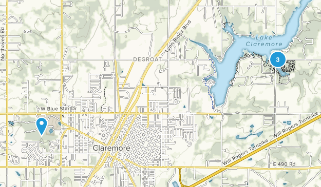 Claremore, Oklahoma Map