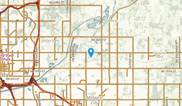 Midwest City, Oklahoma Map