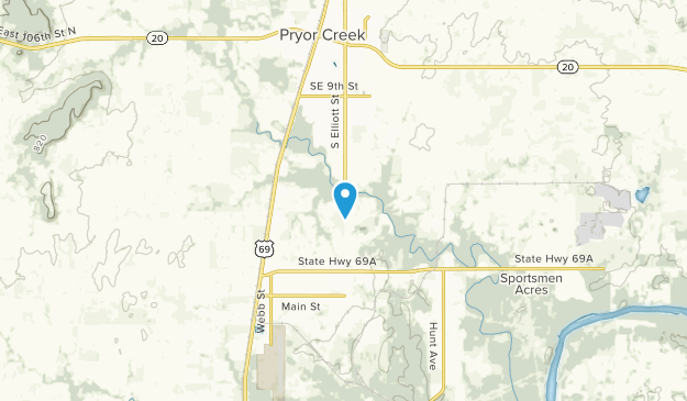 Pryor, Oklahoma Map