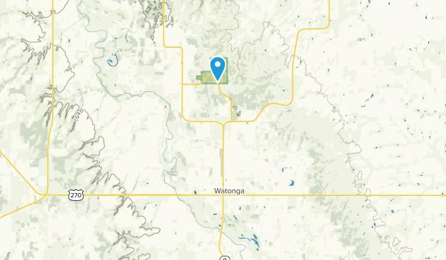 Watonga, Oklahoma Map