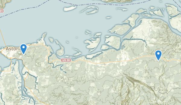 Astoria, Oregon Map