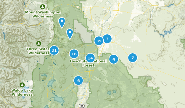 Bend, Oregon Map