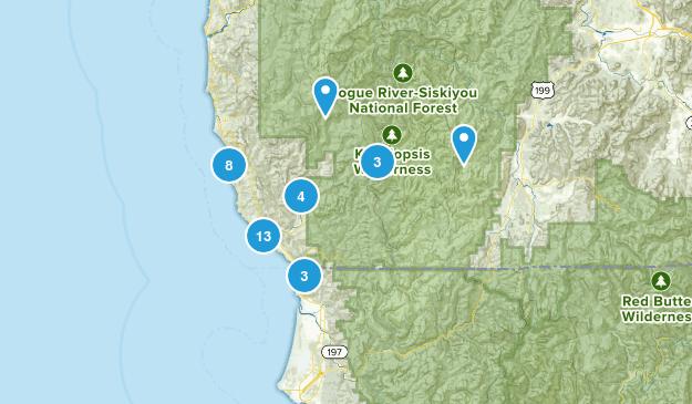 Brookings, Oregon Map