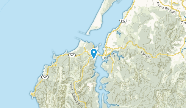 Charleston, OR, Oregon Map