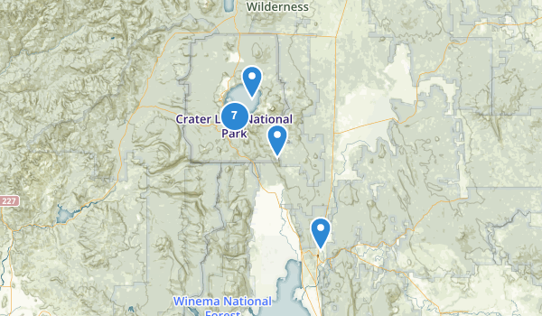 trail locations for Chiloquin, Oregon