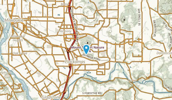 Clackamas, Oregon Map