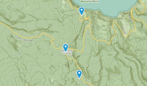Crater lake National Park, Oregon Map