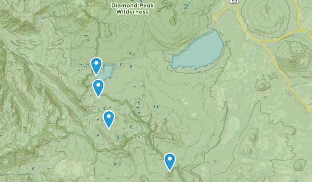 Crescent Lake, Oregon Map