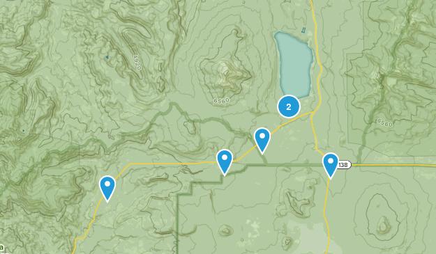 Diamond Lake, Oregon Map
