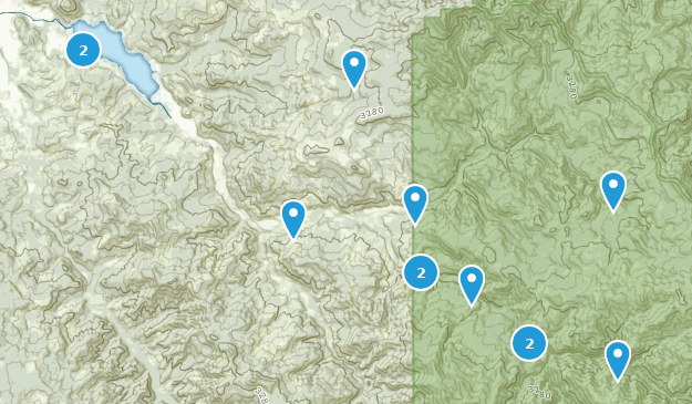 Dorena, Oregon Map