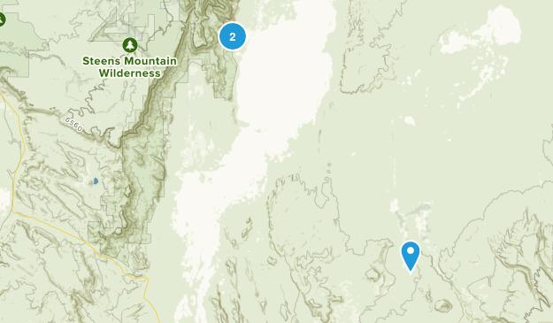 Fields, Oregon Map