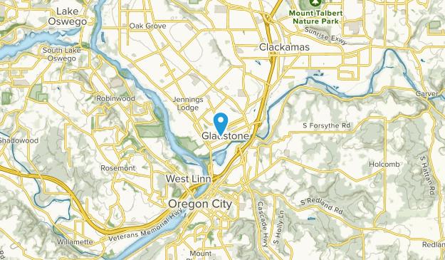 Gladstone, Oregon Map