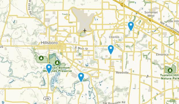Hillsboro, Oregon Map