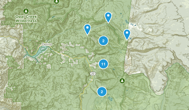Idanha, Oregon Map