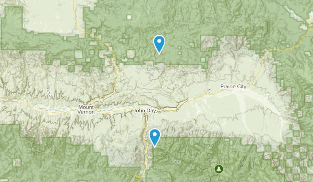 John Day, Oregon Map