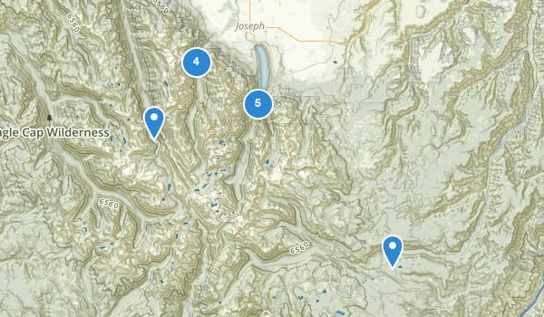 trail locations for Joseph, Oregon