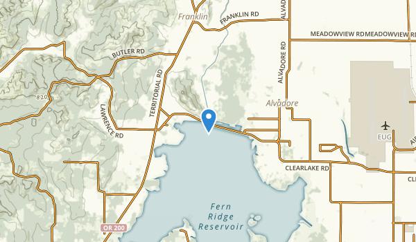 Junction City, Oregon Map