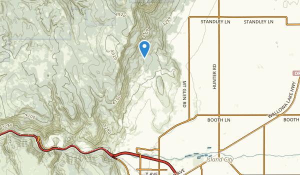 trail locations for La Grande, Oregon