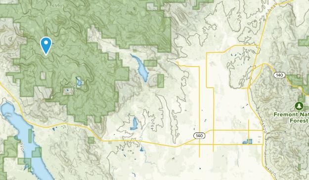 Lakeview, Oregon Map