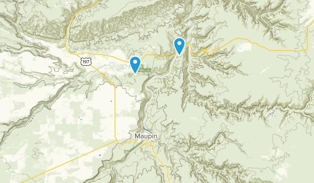 Maupin, Oregon Map