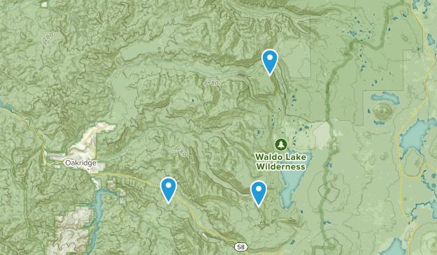 McCredie Springs, Oregon Map