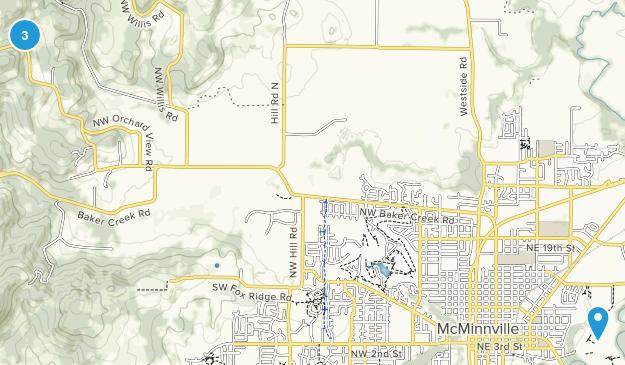 McMinnville, Oregon Map
