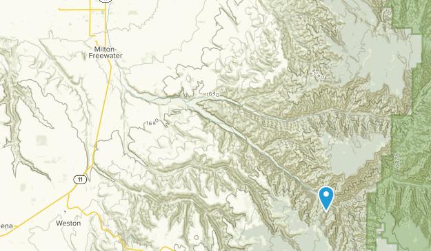 Milton-Freewater, Oregon Map