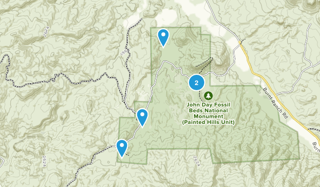 Mitchell, Oregon Map