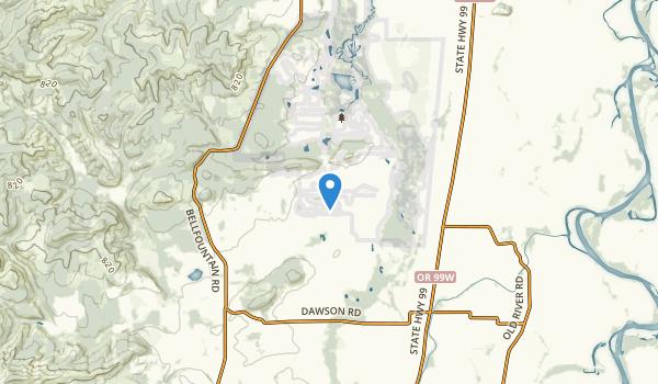 trail locations for Monroe, Oregon