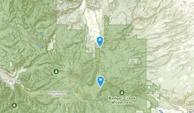 Mount Hood Parkdale, Oregon Map